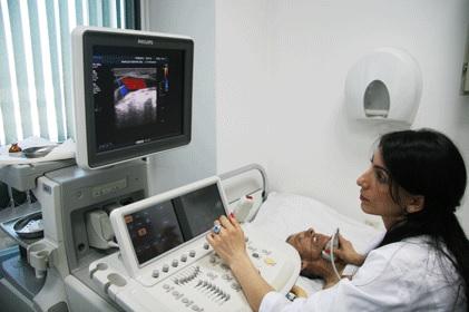 Получение изображения сосудов на мониторе УЗИ