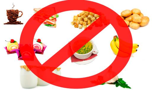Запрещенные продукты при гастрите с пониженной кислотностью