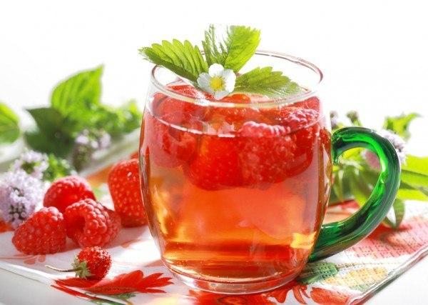 Малиновый чай от простуды