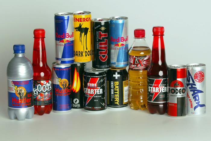 Популярные энергетические напитки
