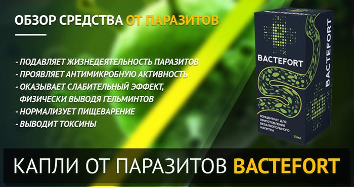 препарат бактефорт от паразитов цена в аптеках