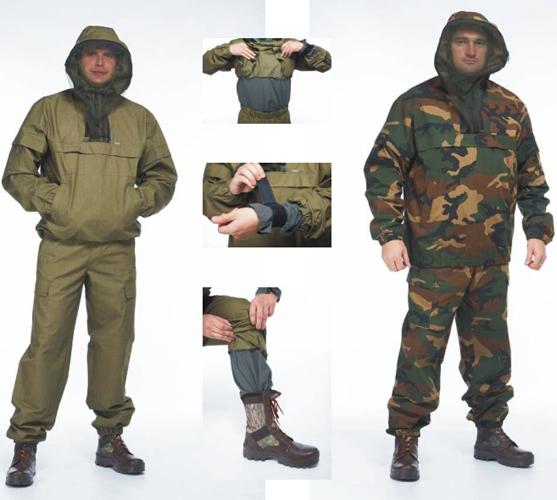 Мужской противоэнцефалитный костюм с сеткой