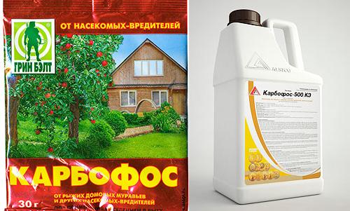 Средство Карбофос-500 от насекомых-вредителей