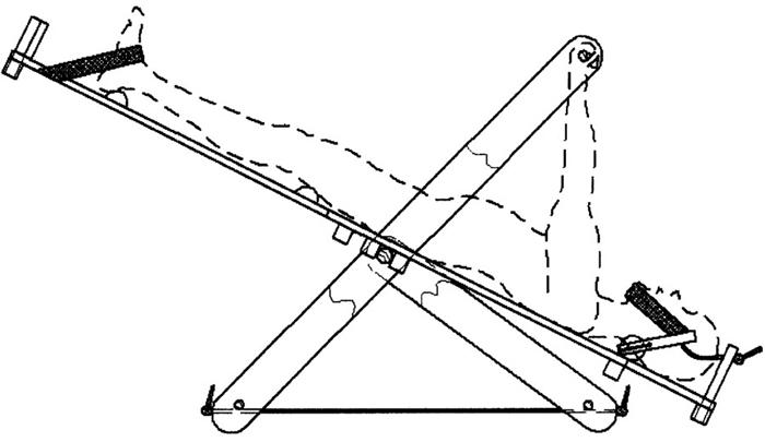 Схема (чертеж) качелей Яловицына